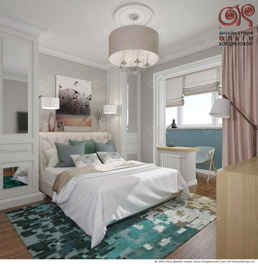 Дизайн современной спальни с элементами арт-деко