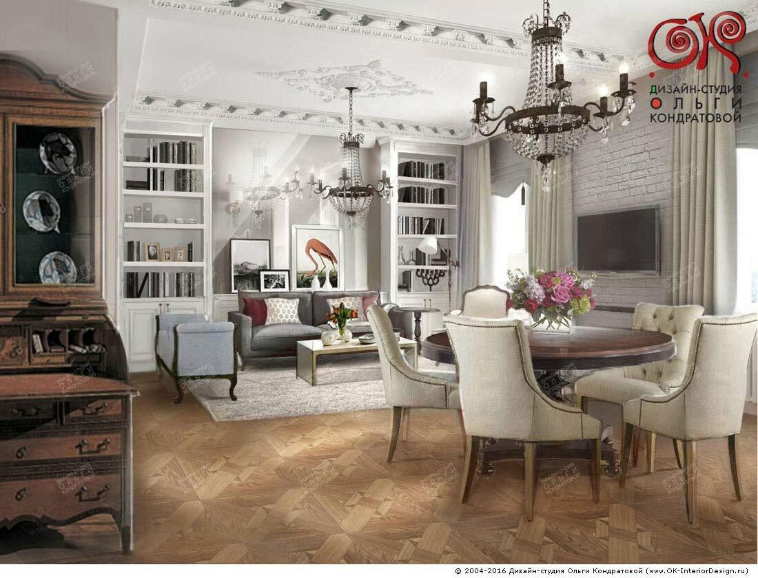 Дизайн гостиной с кухней: фото