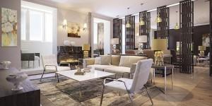Дизайн большой современной гостиной