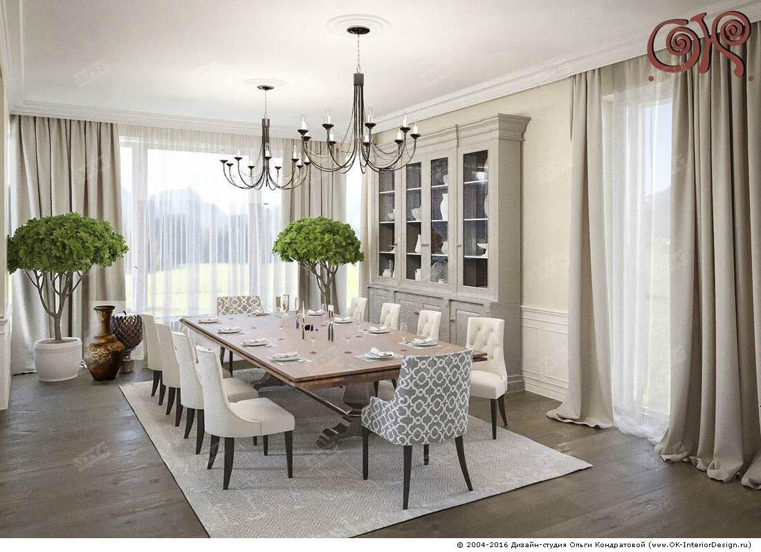 Дизайн дома внутри: столовая