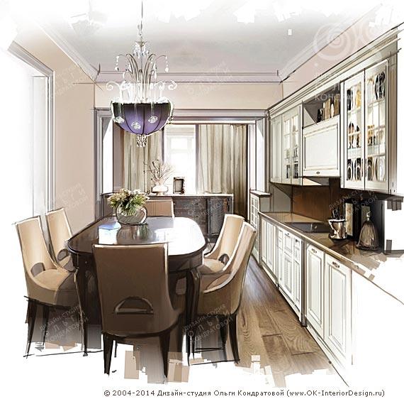 Фото дизайна кухни 6 метров