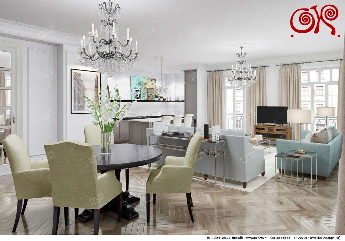 Дизайн кухни-гостиной: фото 2016