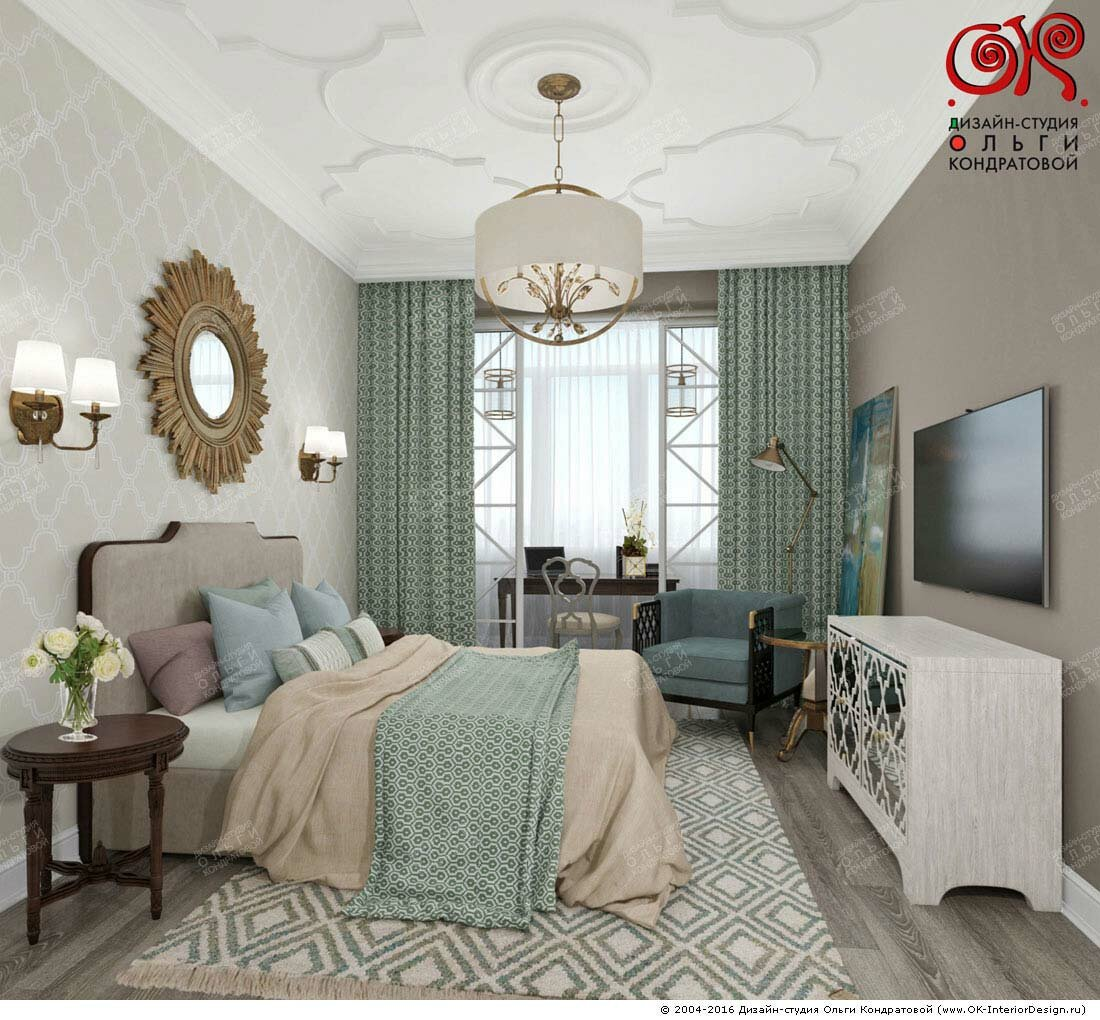 Дизайн спальни с лоджией: фото 2016