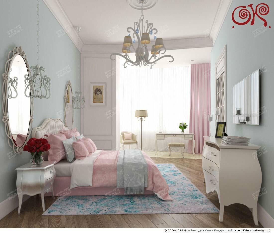Дизайн спальни с пастельными оттенками: фото