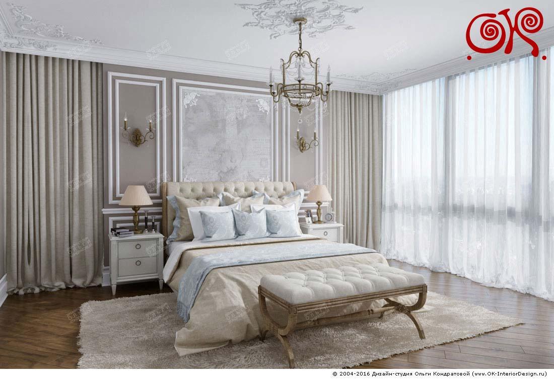 Дизайн спальни в светлых тонах: фото 2016