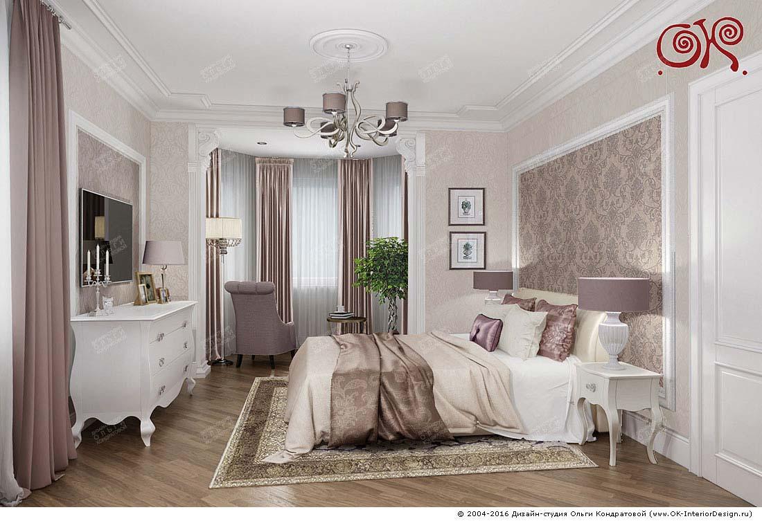 Дизайн спальни с эркером: фото 2016