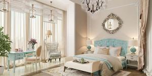 Интерьер спальни в светлых тонах: фото