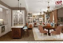 Дизайн гостиной с кухней в квартире-студии