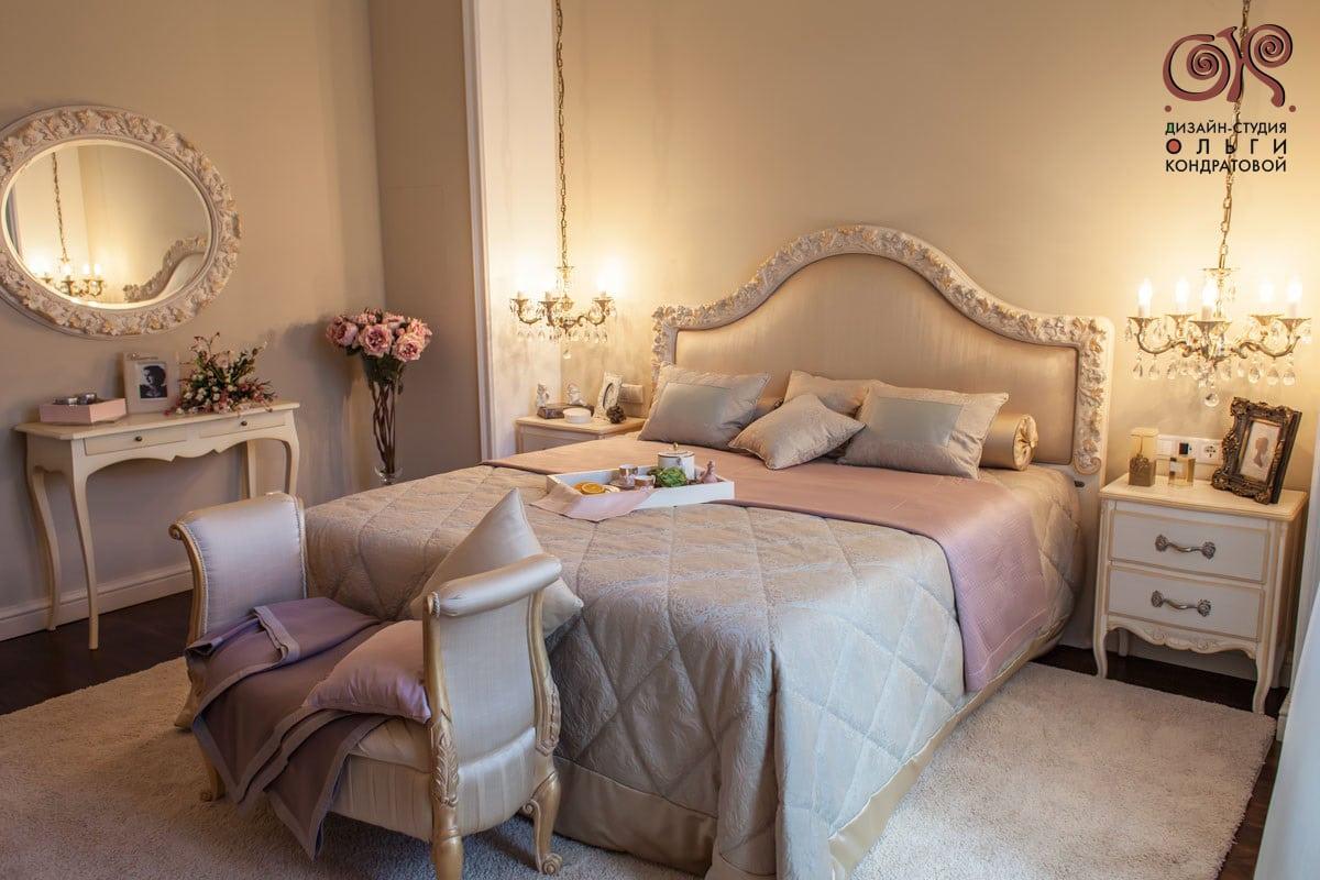 Дизайн спальни в классическом стиле. Фото 2016