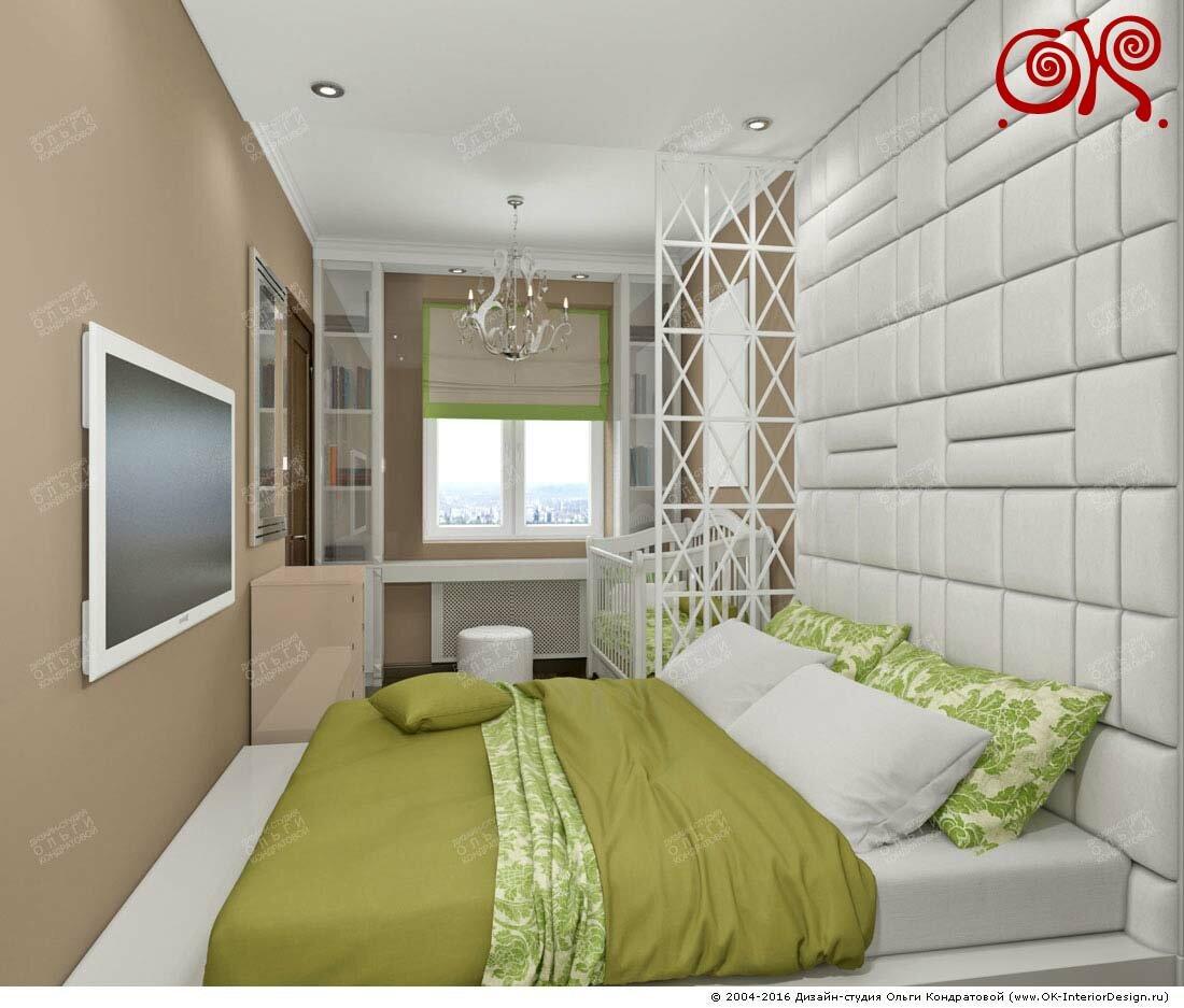 Дизайн зеленой спальни в современном стиле: фото 2016