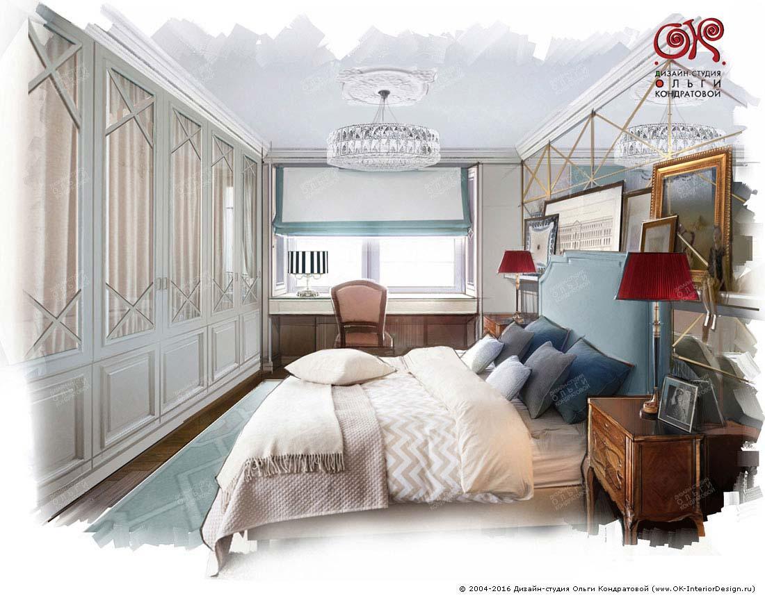 Дизайн спальни с зеркалами