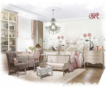 Дизайн интерьера детской комнаты от Студии Ольги Кондратовой