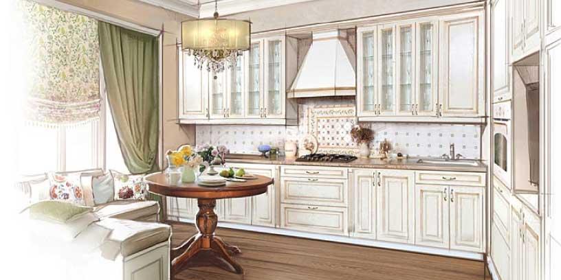 Дизайн интерьера белой кухни в квартире