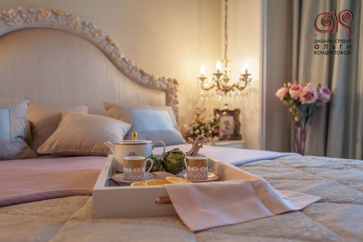 Дизайн спальни в классическом стиле. Реальная фотография