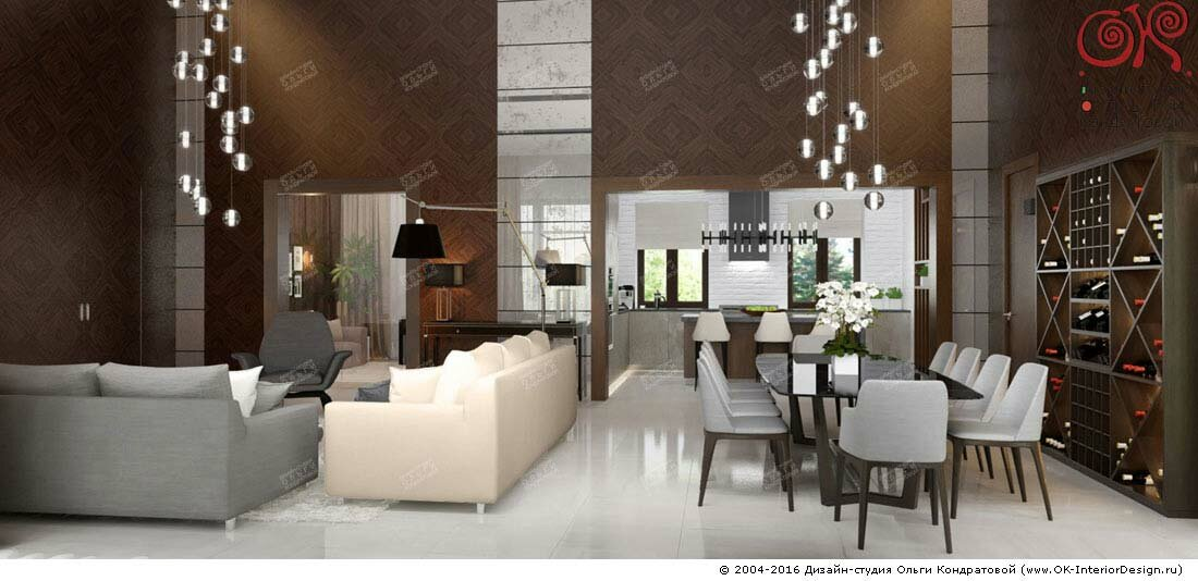 Дизайн гостиной в доме: фото 2016