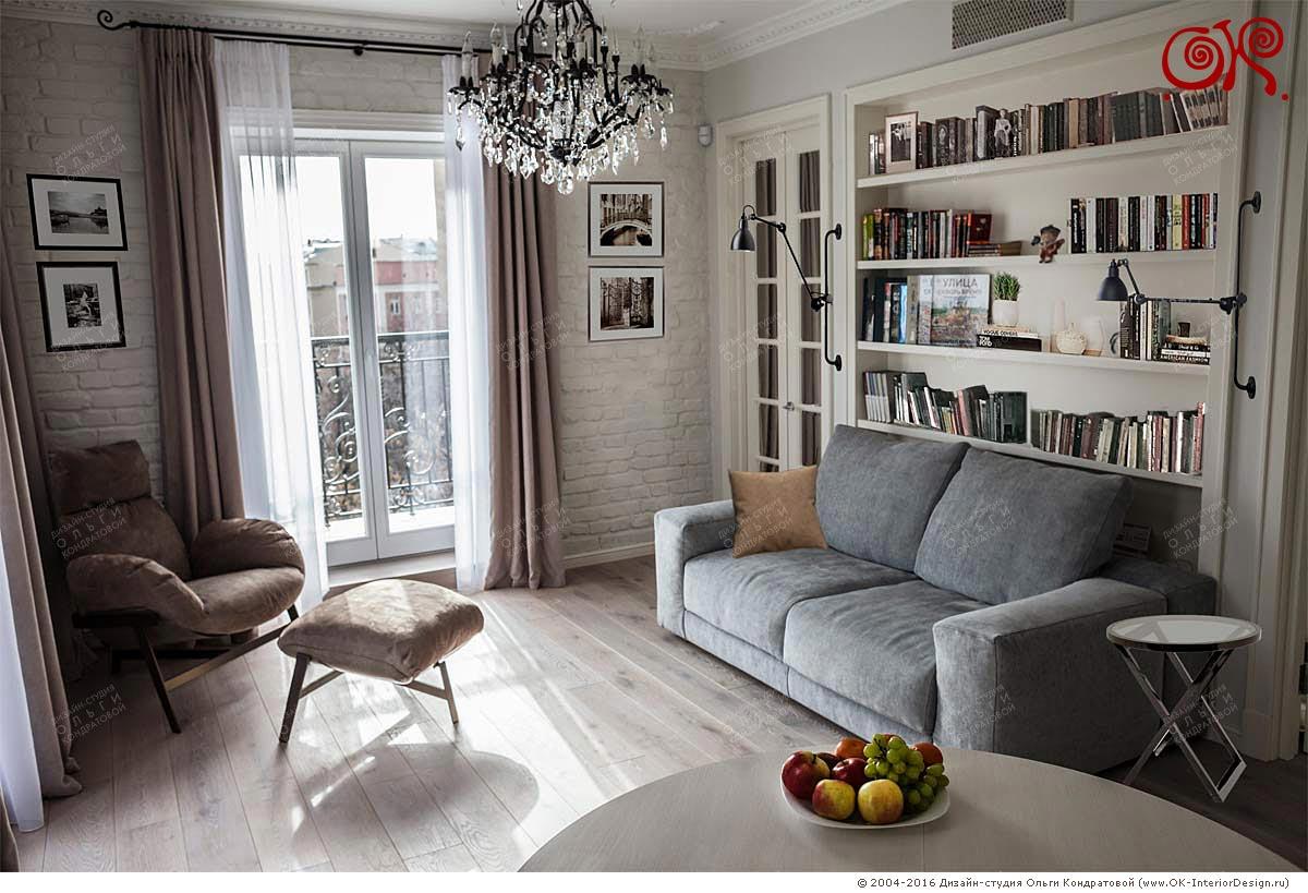 Дизайн гостиной в квартире. Фото 2016