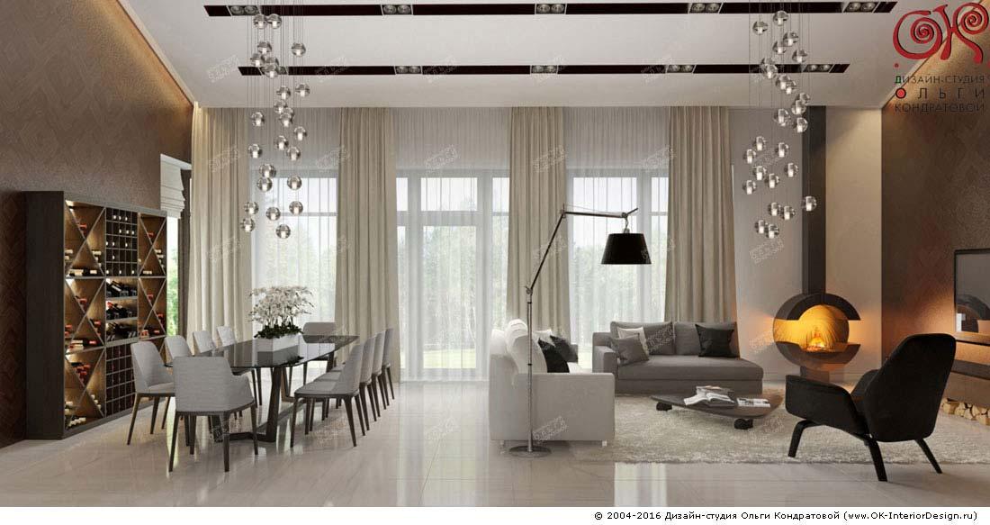 Дизайн гостиной с камином: фото
