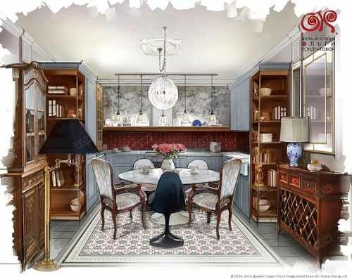 Дизайн кухни в стиле винтаж