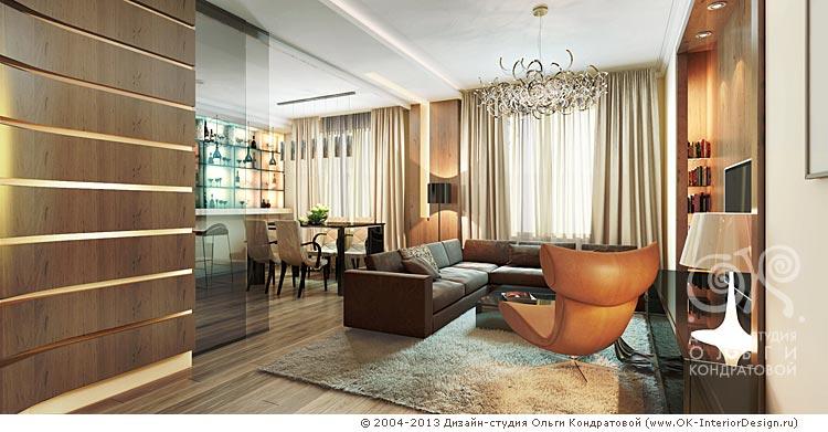 Дизайн гостиной в современном стиле: фото 2016