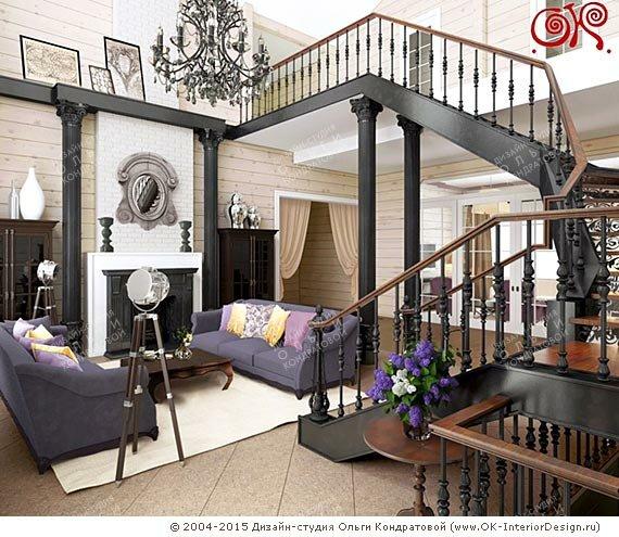Дизайн гостиной в доме: фото