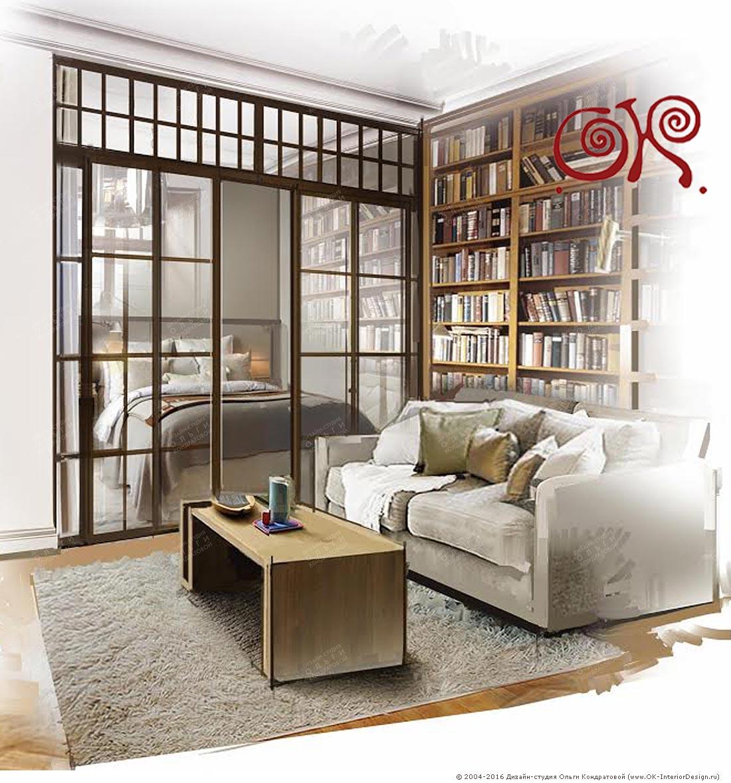 Дизайн гостиной в стиле винтаж