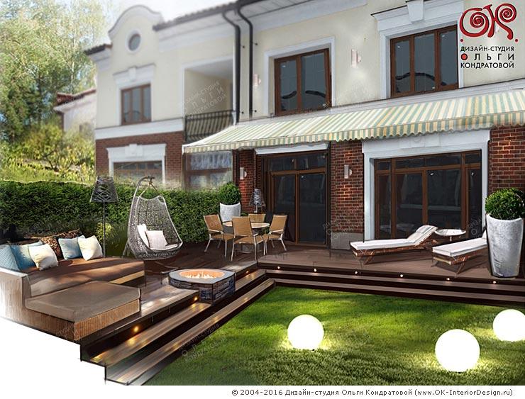 Дизайн дома снаружи: терраса