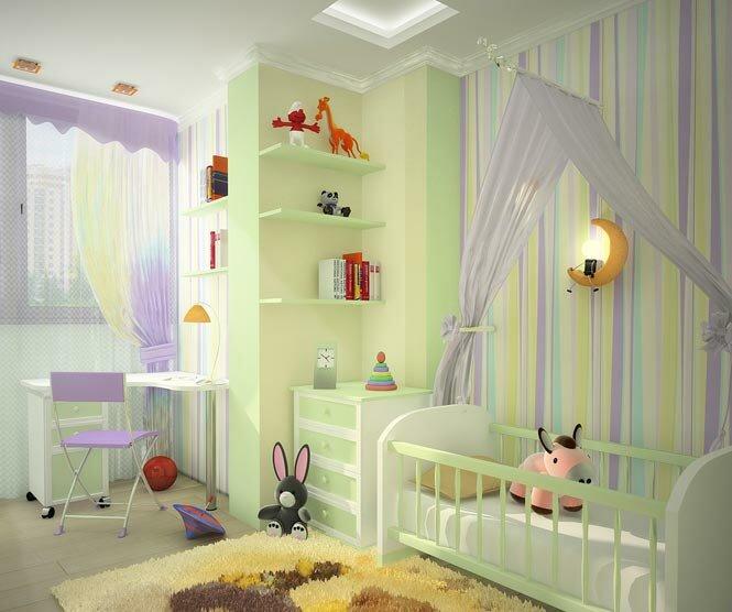 Интерьеры детских комнат для детей 89