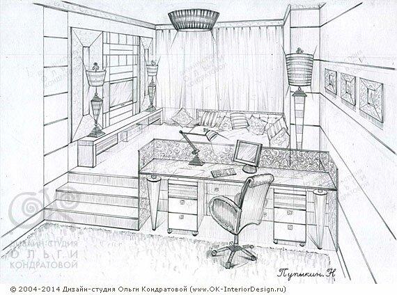 дизайн комнаты для подростка в современном стиле